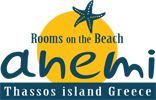 rooms to let on golden beach of skala potamias - thasos - Anemi Beach rooms